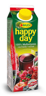 Saft Happy Day Multivitamin Rote Früchte