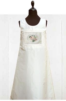 kaufen Kleid 100% Shantung Seide Creme
