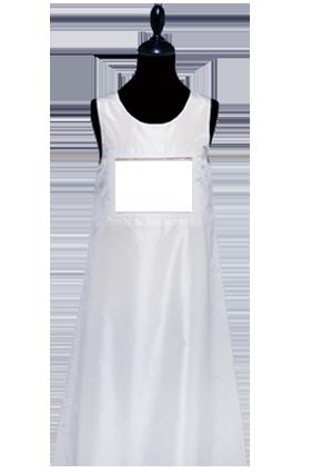 kaufen Kleid 100% Seidentaft Weiss