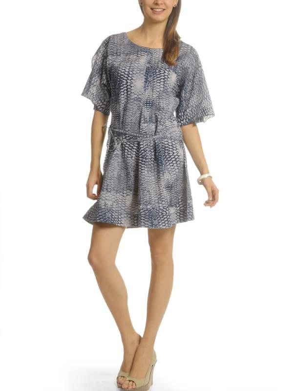 kaufen Kleid blau/grau 0009