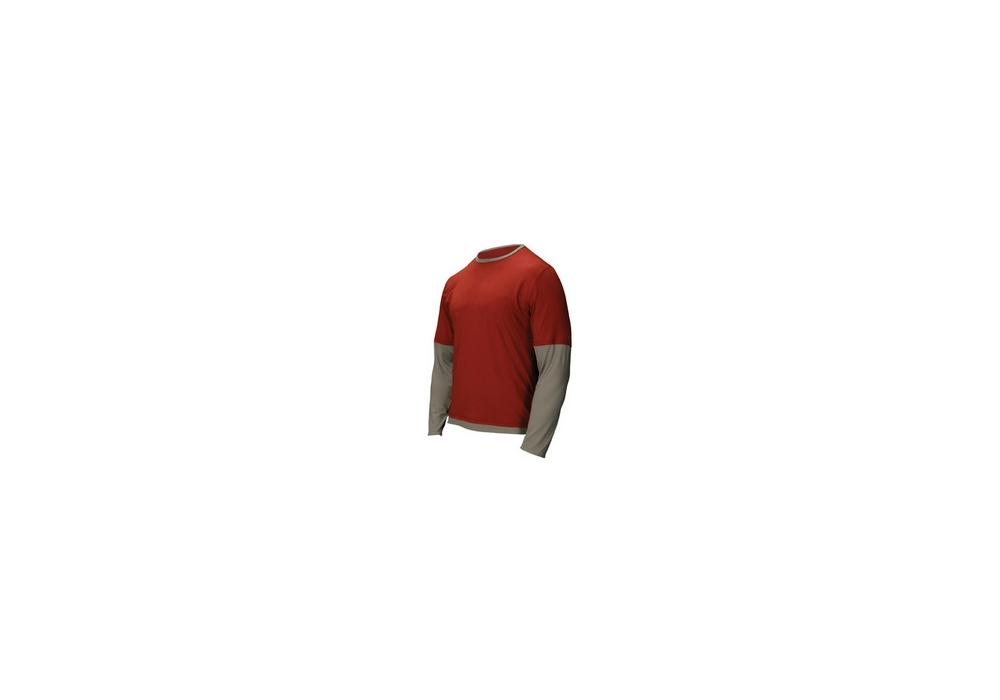 kaufen Bekleidung Nautilus Long Sleeve Relaxed T red/taupe