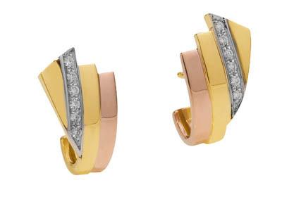 kaufen Ohrstecker,Gelbgold/Rotgold 14 Kt, Brillant 64142900