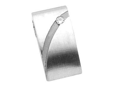 kaufen Anhänger Stahl, Zirkonia 490181