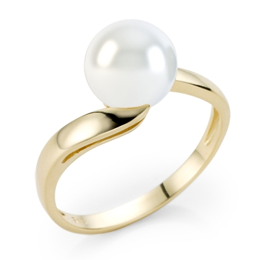 kaufen Ring mit weißen Süßwasserperlen Esme