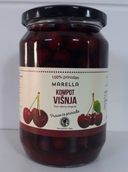 Buy Compote Cherry (less sweet, seedless) 100% natural