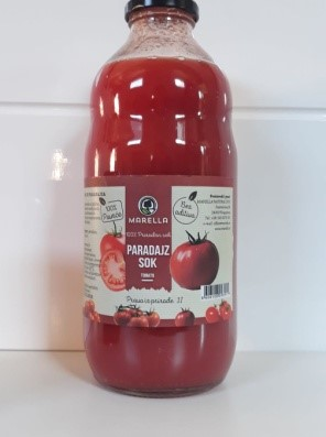Buy Tomato Juice 100% vegetables in glass bottles