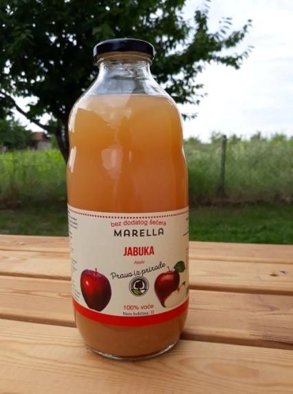 Te koop Appelsap 100% natuurlijk, zonder suiker zonder water in glazen flessen
