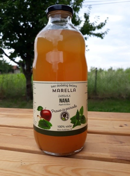 Vásárolni Menta és almalé (100% gyümölcslé)