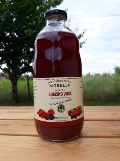 Αγορά Μήλο- φρούτα των δασών - χυμός 100% φυσικό χωρίς ζάχαρη χωρίς νερό σε γυάλινη φιάλη