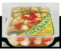 Frischkäse gerollt in Zucchini