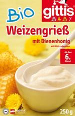 Gittis Bio Weizengrieß mit Bienenhonig ab dem 6.