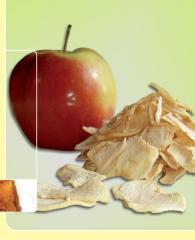 Trockenen Apfelino Apfelspalten und Apfelwürfel
