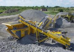 Crushing-shredding aggregates