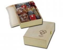 Holzkassette mit Lebkuchen