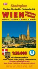 Karte Stadtplan Nr.90 Wien