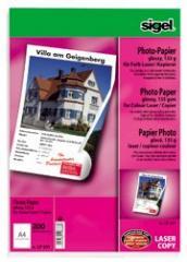 Fotopapier Farblaser Sigel LP341 A4