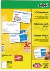 Visitenkarten Sigel LP797 225g weiß 100 Stück