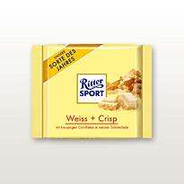Schokolade Ritter Soprt Weiss + Crisp