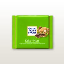 Schokolade Ritter Soprt Keks + Nuss Tafel