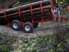 Ремаркета за дървен материал без кран