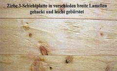 Massivholz & 3 Schichtplatten: Holzart