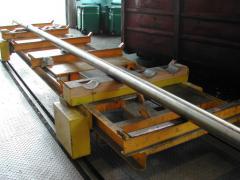 Schienenwagen für Bohrstangentransport