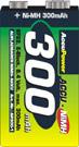 AccuPower NiMH 9 Volt 300mAh