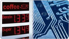 Elektronische Preisanzeigen für Tankstellen