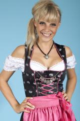Mini Dirndl Nicole schwarz