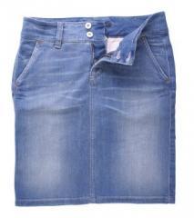 Damen Jeansrock Basic