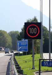 Wechselverkehrszeichen in LED-Technik