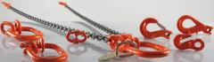 Round-link high-strength chain