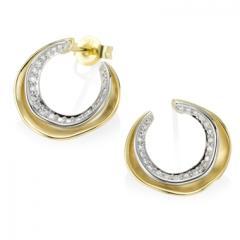 Ohrring mit Diamant Leslie