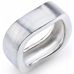 Sterling Silber Ring eis-mattiert