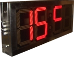 Temperatur- und Uhrzeitanzeigen