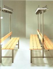 Sitzbankgarderoben