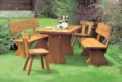 Sitzbank, Stuhl und Tisch Kranichberg
