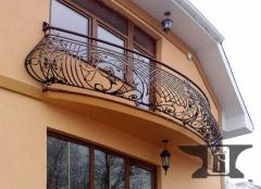 Wrought enclosures for balconies
