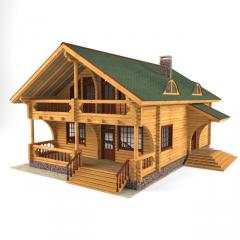 Holzhäuser aus Rund-bohlen 240 mm-340 mm es kann auch als Vierkant Hölzer gebaut werden.