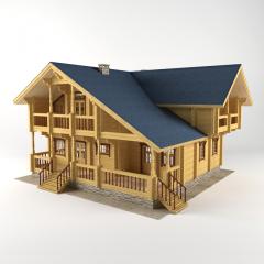 Holzhaus aus Rund-bohlen 240-340 mm