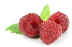 Fresh frozen raspberries