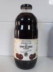 Xarope de cereja 100% natural em garrafas de vidro