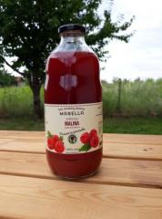 JUICE FROM APPLE AND RASPBERRY (100% fruit)