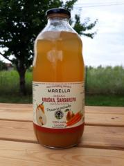 Сок из яблока, груши и моркови (100% фруктов и