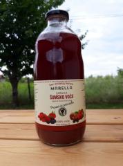 蘋果 - 野莓果汁,100%天然無糖,玻璃瓶中不含水