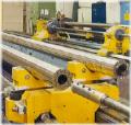 Drehmaschine für Oberflächenbehandlung von Bohrstangen