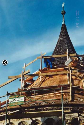Auftrag Holzschindeldeckung
