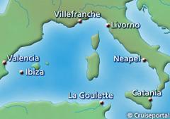 Kreuzfahrten Frankreich-Spanien-Tunesien